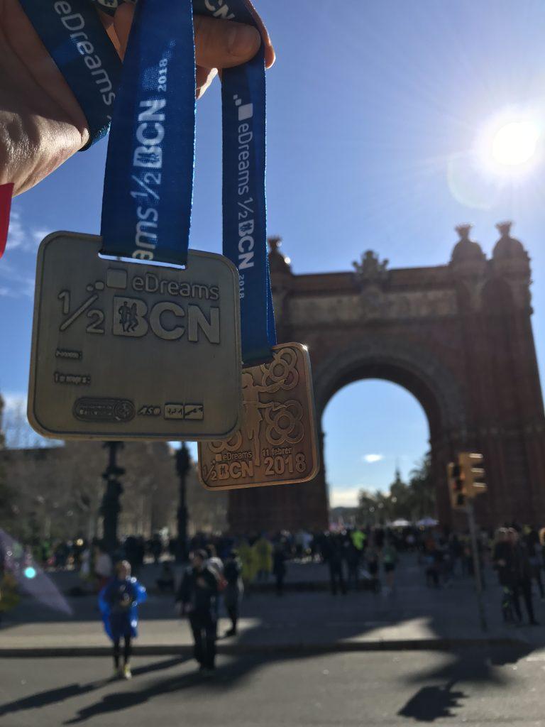 Media maratón Barcelona superación