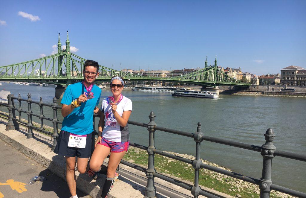 media maratón de Budapest