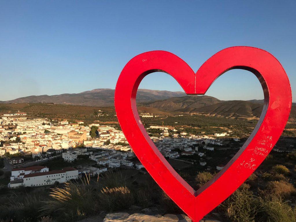 milla Ugíjar, vistas desde el monte Corazón